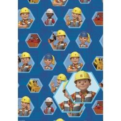 Bob The Builder Birthday Party Gift Wrap2 Sheets & 2 Tags
