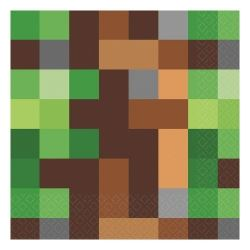 TNT Minecraft Style Party Napkins
