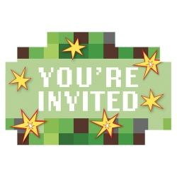 TNT Minecraft Style Party Invitations