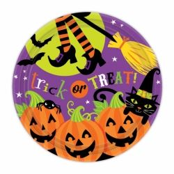 Witches Crew Halloween Party Plates