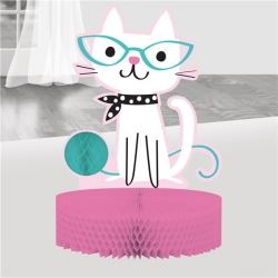Purr-fect Party Honeycomb Table Decoration