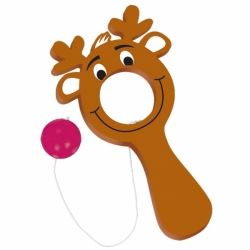 Christmas Reindeer Plastic Bulls Eye Party Favour