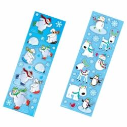 Joyful Snowman Party Favour Stickers