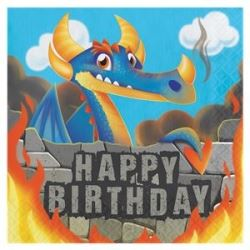Dragon Party Happy Birthday Napkins