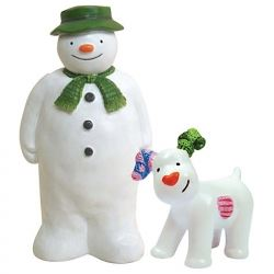 The Snowman & Snow Dog Resin Cake Topper