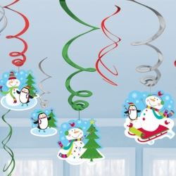 Joyful Snowman Decorating Swirls