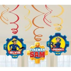 Fireman Sam Party Swirls Decoration