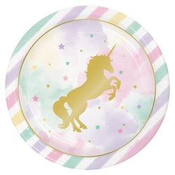 Unicorn Sparkle Deluxe Party Plates