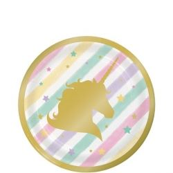 Unicorn Sparkle Deluxe Party Lunch Plates