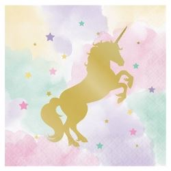 Unicorn Sparkle Deluxe Party Napkins
