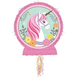 Magical Unicorn Party Drum Pull Pinata