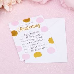 Pattern Works Pick & Mix Glitz Pink Christening Invitations