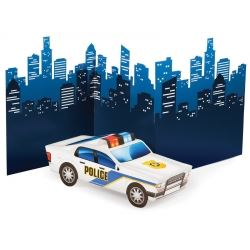 Police Party 3D Police Car Centrepiece