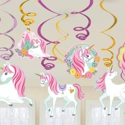 Magical Unicorn Party Swirls