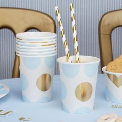 Pattern Works Pick & Mix Glitz Blue Dots Party Cups