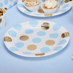 Pattern Works Pick & Mix Glitz Blue Dots Party Plates