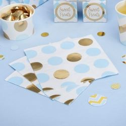 Pattern Works Pick & Mix Glitz Blue Dots Party Napkins