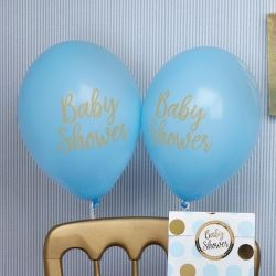 Pattern Works Pick & Mix Glitz Blue Baby Shower Balloons