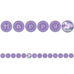 Unicorn Fantasy Party Ribbon Banner