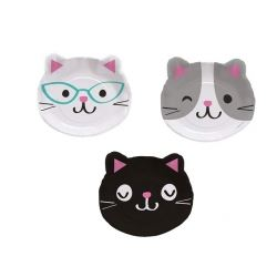 Purr-fect Party Kitten Shaped Plates