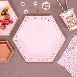 Glitz & Glamour Pink & Rose Gold Plate Stars