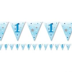 One Little Star Blue Boy Party Flag Banner