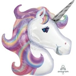 Rainbow Unicorn Supershape Party Balloon