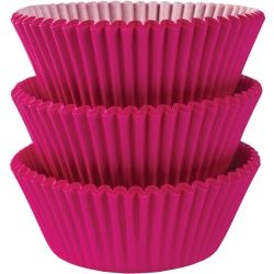 Bright Pink Cupcake Cases