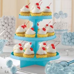 Caribbean Blue Party Cupcake Stand