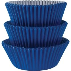 Bright Royal Blue Mini Cupcake Cases