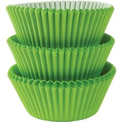 Kiwi Green Party Cupcake Cases
