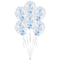 Confetti Blue Latex Balloon Kits