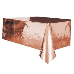 Rose Gold Metallic Party Tablecover