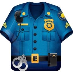 Police Shirt Party Shaped Plate