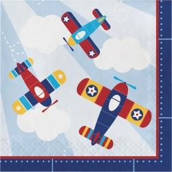Lil Flyer Airplane Party Napkins