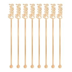 Rose Gold Party Drink Stirrers