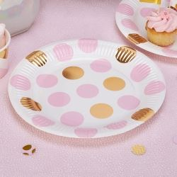 Pattern Works Pick & Mix Glitz Pink Dots Party Plates