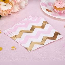 Pattern Works Pick & Mix Glitz Pink Chevron Party Napkins