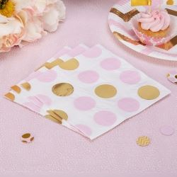 Pattern Works Pick & Mix Glitz Pink Dots Party Napkins