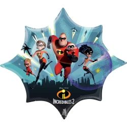 Disney The Incredibles 2 Party Supershape Foil Balloons