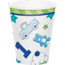 Doodle 1st Birthday Boy Party Cups