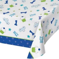 Doodle 1st Birthday Boy Party Tablecover