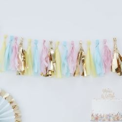 Pastel Hip Hip Hooray Party Tassel Garland