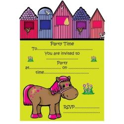 Lovely Chubblies Pony Invitations