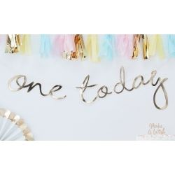 Pastel Hip Hip Hooray Party Banner One Today