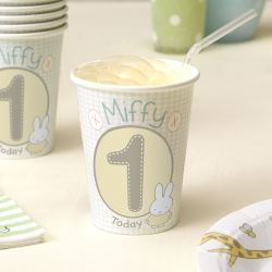 Baby Miffy 1st Birthday Party Cups