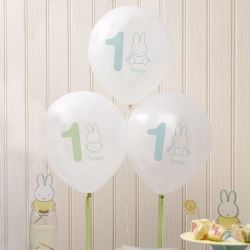 Baby Miffy 1st Birthday Party Balloons