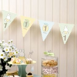 Baby Miffy Party 1st Birthday Bunting