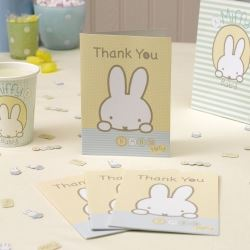 Baby Miffy Birthday Party Thank You's
