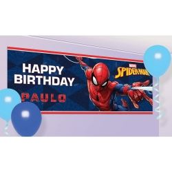 Spiderman Customisable Party Banner